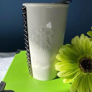 Starbucks ceramic travel tumbler mug